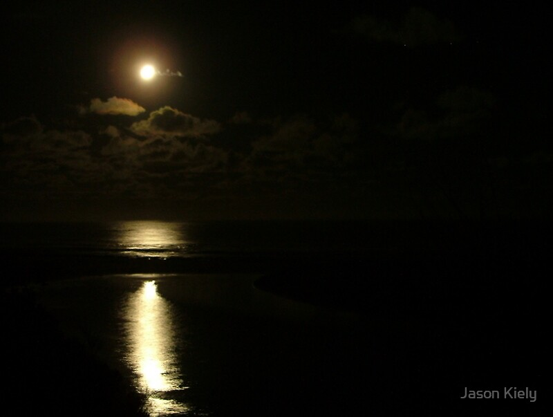 Moonlight stroll-Johanna Beach, Vic by Jason Kiely