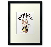 Bow Wow Gus Beesuit Framed Print