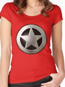 Sheriff star badge Women's Fitted Scoop T-Shirt