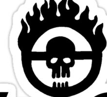 Built Like a War Rig (Black) Sticker