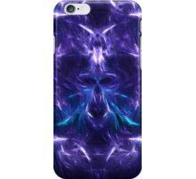 Fractal Flame Skull v2 (Blue/Purple) iPhone Case/Skin