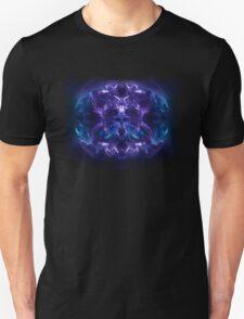Fractal Flame Skull v2 (Blue/Purple) T-Shirt