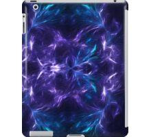 Fractal Flame Skull v2 (Blue/Purple) iPad Case/Skin