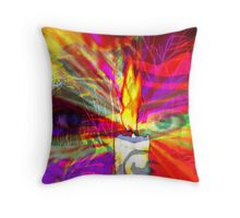 Sorcerer's Candle Throw Pillow