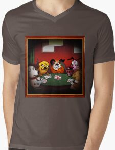 Dogs Playing Poker Mens V-Neck T-Shirt