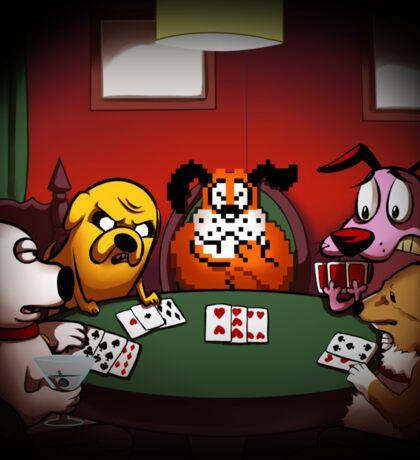 Dogs Playing Poker Sticker