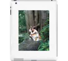 Girl crouching my pond iPad Case/Skin