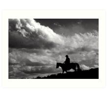 The Lonesome Trail  Art Print