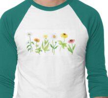 Daisies  Men's Baseball ¾ T-Shirt
