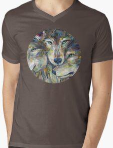 Gray wolves Mens V-Neck T-Shirt