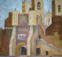 York gate and minster by Ivor