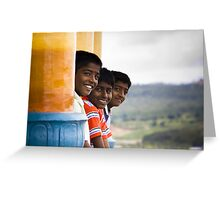 Why always we three? Greeting Card
