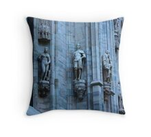 Milan. Statues on the Wall of the Duomo. Italy 2010 Throw Pillow