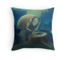 DJ Monster Throw Pillow