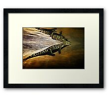 Reptile Relecting Framed Print