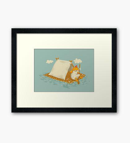 Chicken on a Raft Framed Print