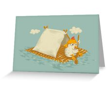Chicken on a Raft Greeting Card