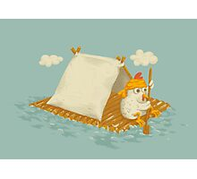 Chicken on a Raft Photographic Print