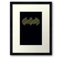 Coding Bat Framed Print