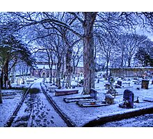 Snow on Alderney Photographic Print