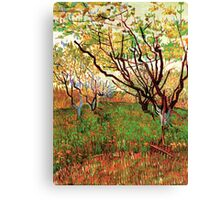 Vincent van Gogh, Orchard in Blossom Canvas Print