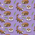 Red Panda Repeat Pattern by Growly