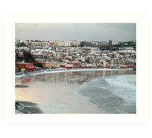 Snowy Scarborough 3 Art Print