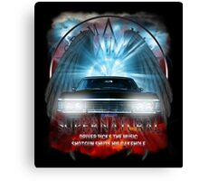 Supernatural Driver picks the music shotgun shuts his cakehole Darkness Canvas Print