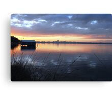 Crawley Boatshed by Sunrise Canvas Print