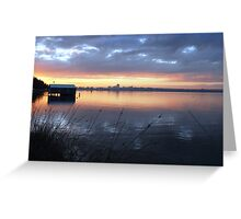 Crawley Boatshed by Sunrise Greeting Card
