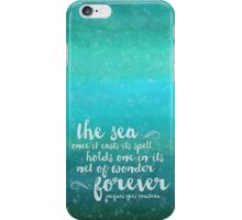 The Sea - Quote from Jacques Cousteau iPhone Case/Skin