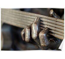 Bronze Guitar Poster