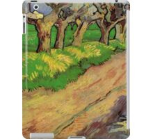Pollard Willows by Vincent van Gogh. Rural, country road landscape oil painting. iPad Case/Skin