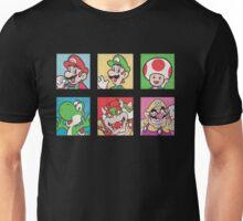 Nintendo Mario and Wario Squares Unisex T-Shirt