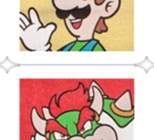 Nintendo Mario and Wario Squares Sticker