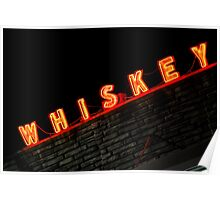 Neon Whiskey Sign Poster