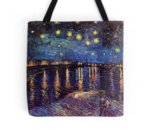 Starry Night over the Rhone, Vincent van Gogh Tote Bag