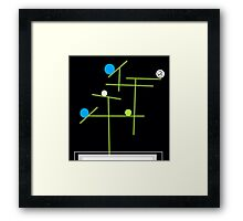 8 ball art Framed Print