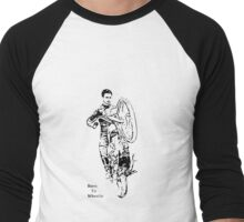 Vintage Motorcycle Wheelie - Born to Wheelie Men's Baseball ¾ T-Shirt