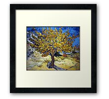 Van Gogh's Famous oil painting, The Mulberry Tree. Framed Print