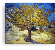 Van Gogh's Famous oil painting, The Mulberry Tree. Canvas Print