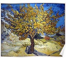 Van Gogh's Famous oil painting, The Mulberry Tree. Poster