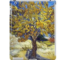 Van Gogh's Famous oil painting, The Mulberry Tree. iPad Case/Skin