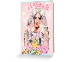 Lady Rainicorn, Jake, & the 5 puppies Greeting Card