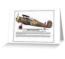 Gloster Gladiator MKII Greeting Card