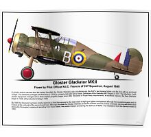 Gloster Gladiator MKII Poster