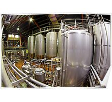 Fisheye view of a Brewery Poster