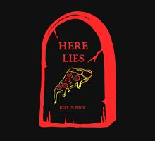 Here Lies Pizza [ Dark Shirts ] Mens V-Neck T-Shirt