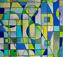 Prismacolor Geometric - Blues/Greens - Pattern by MelDavies