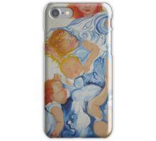 Children in blue iPhone Case/Skin